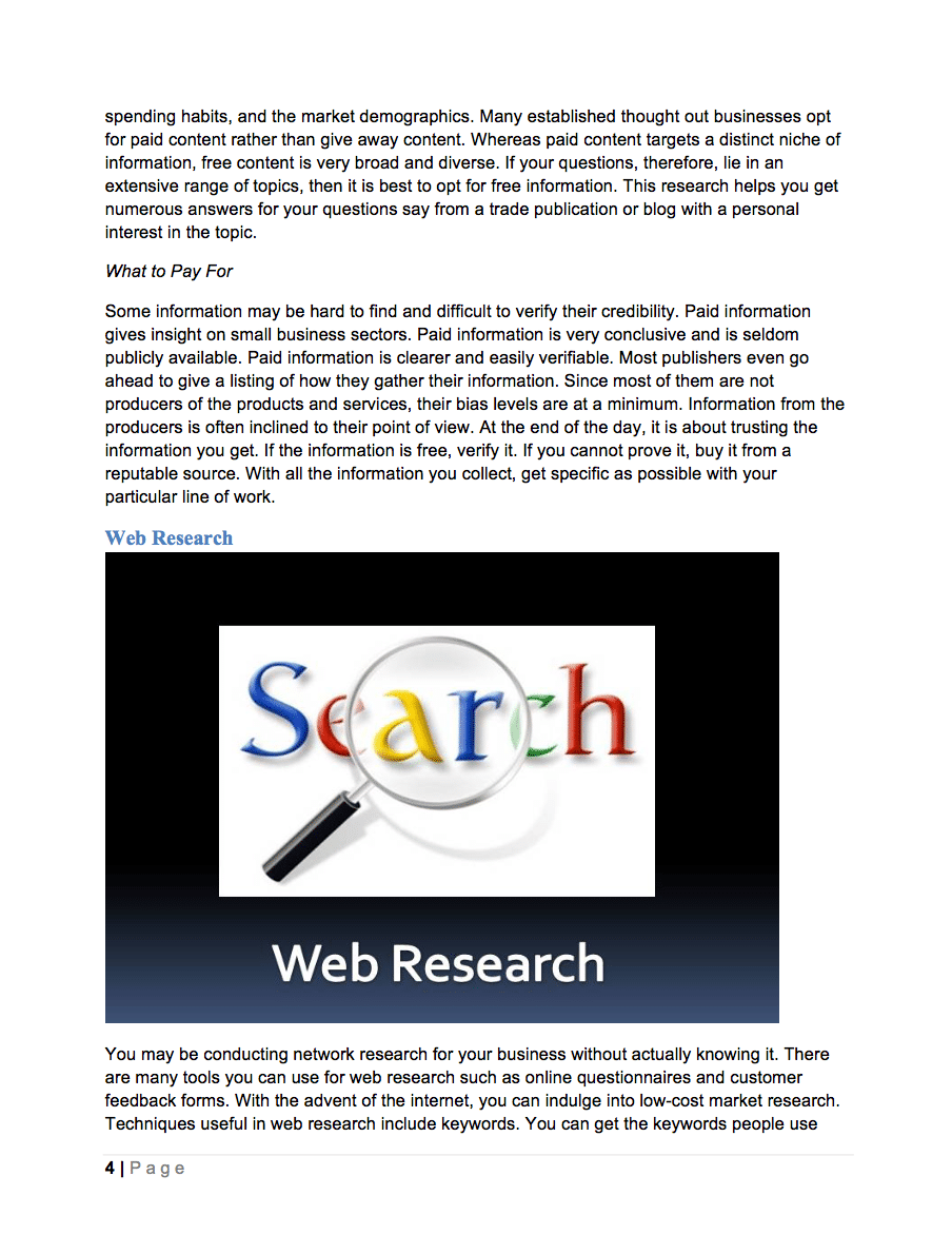 business plan industry research guide