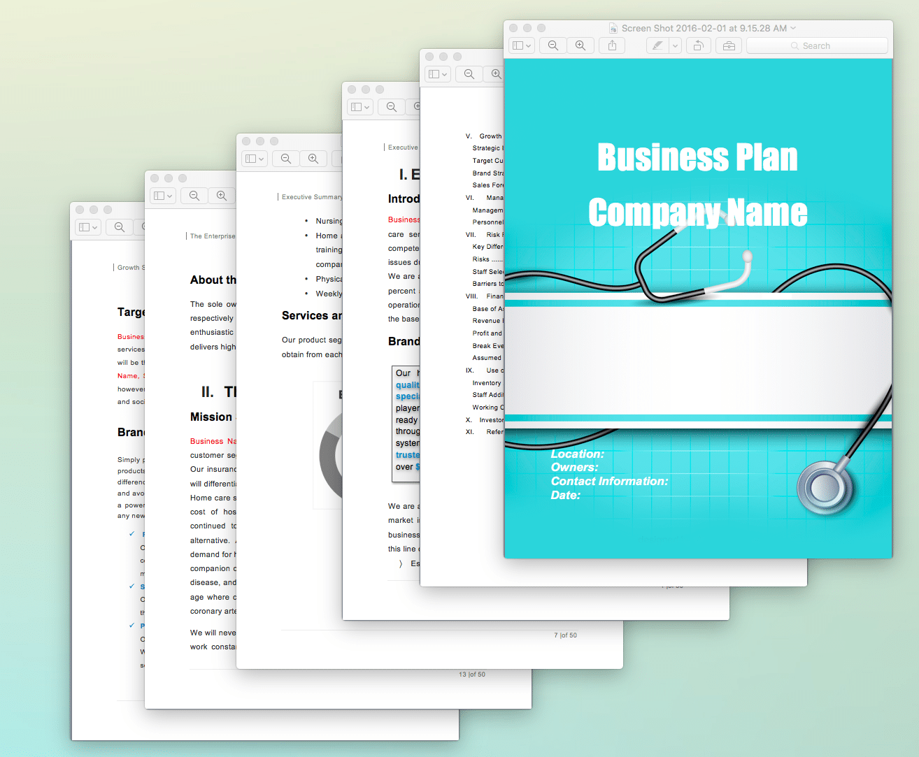 health insurance business plan