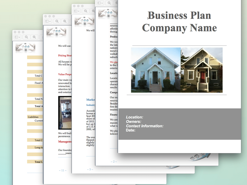Sample business plan flipping houses house design plans for Home building business plan