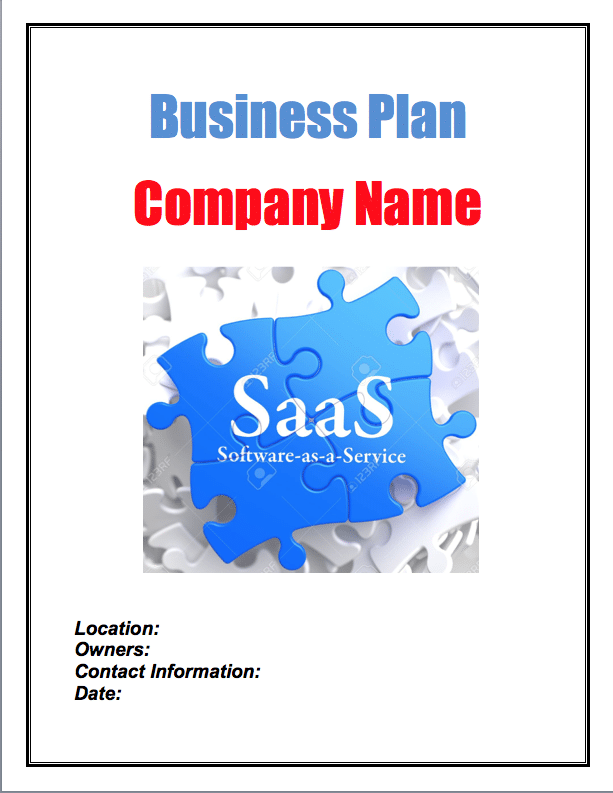 software as a service sample business plan