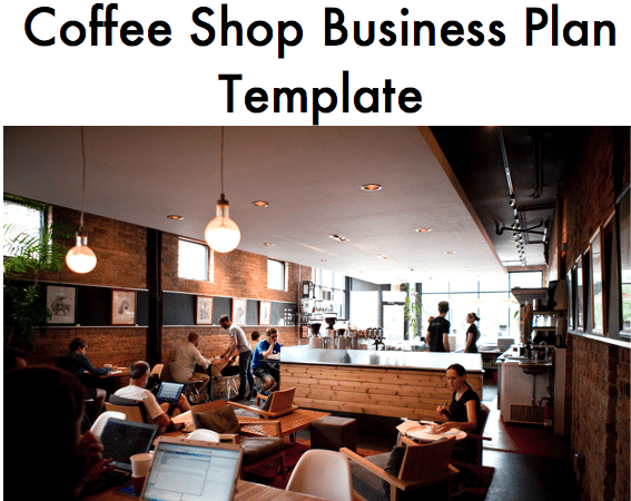 business plan coffee shop template