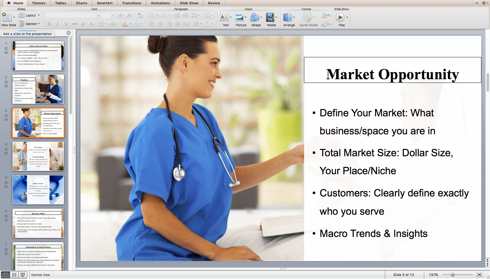 health care entrepreneurial business plan executive summary and funding pitch
