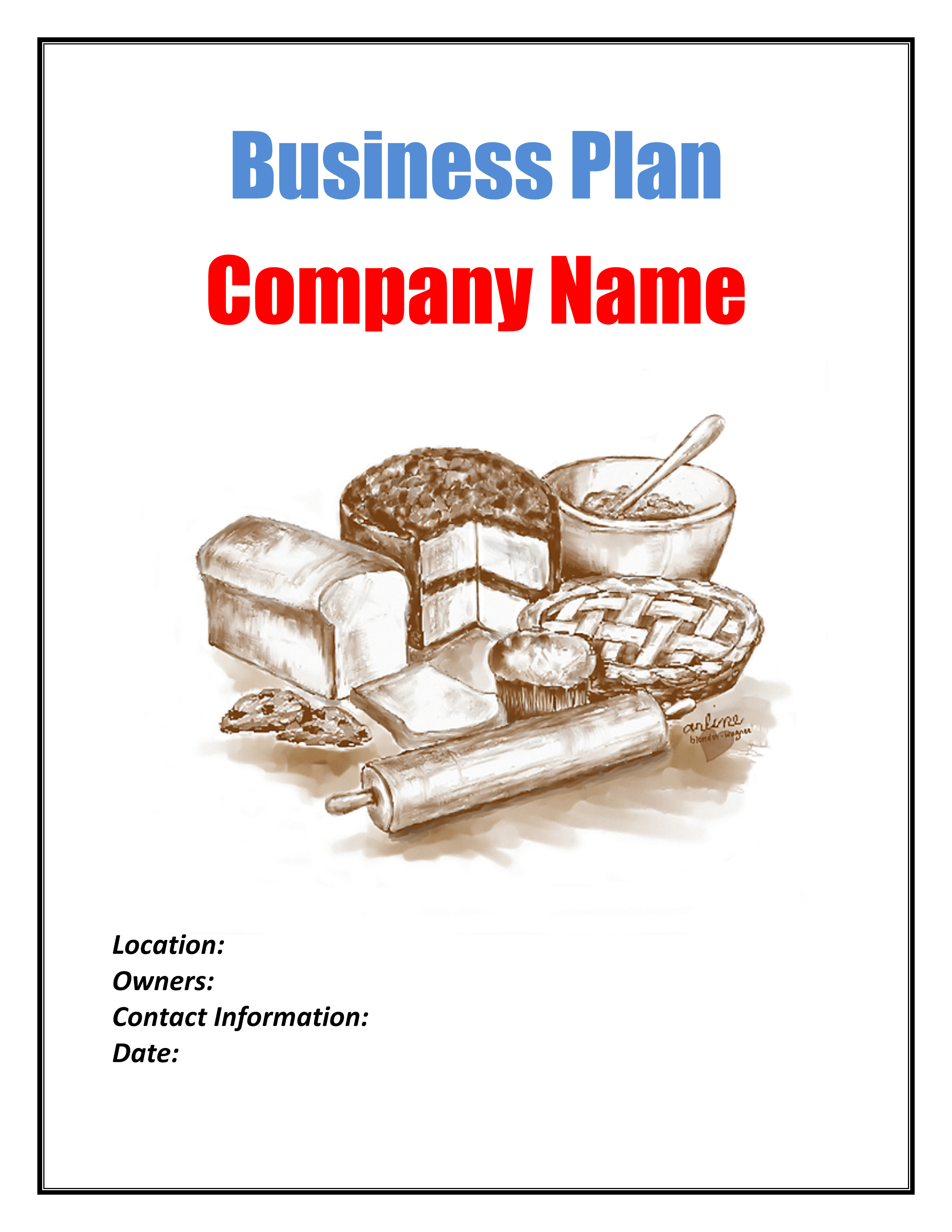 business plan of a bakery