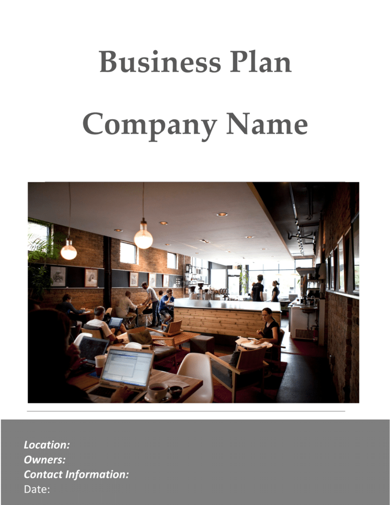 Coffee shop business plan sample pages black box for Coffee business