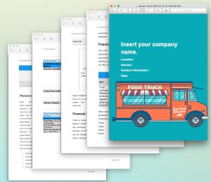 Food Truck business plan template