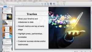 Mobile app pitch deck presentation