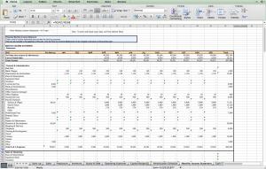 Coffee shop Excel