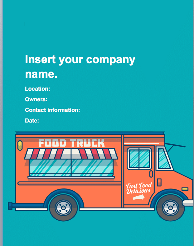 Food truck business plan template sample pages black box business food truck business plan food truck business plan cheaphphosting Choice Image