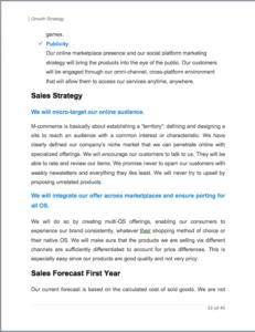 IOS App business plan