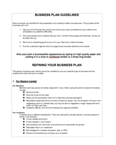 Food catering business plan
