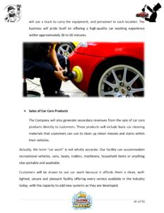 Car wash business plan