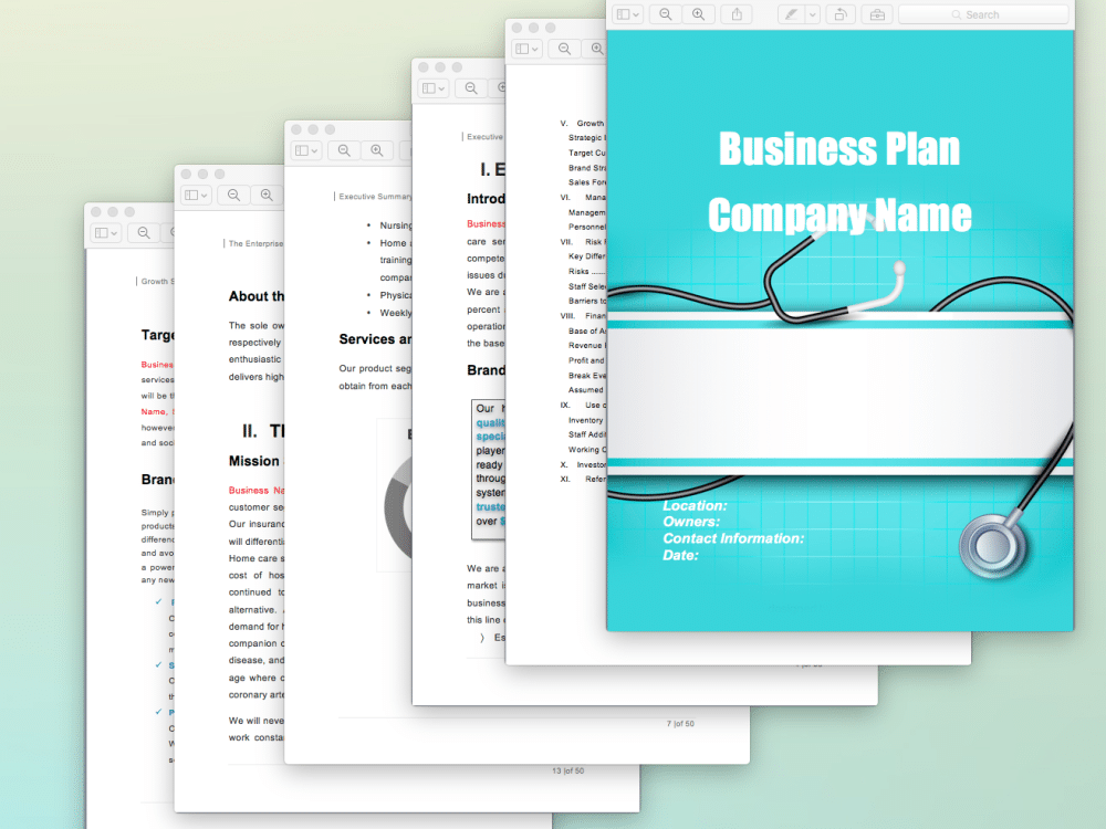 Home Health Care Business Plan Sample Pages Black Box Business Plans - Healthcare business plan template