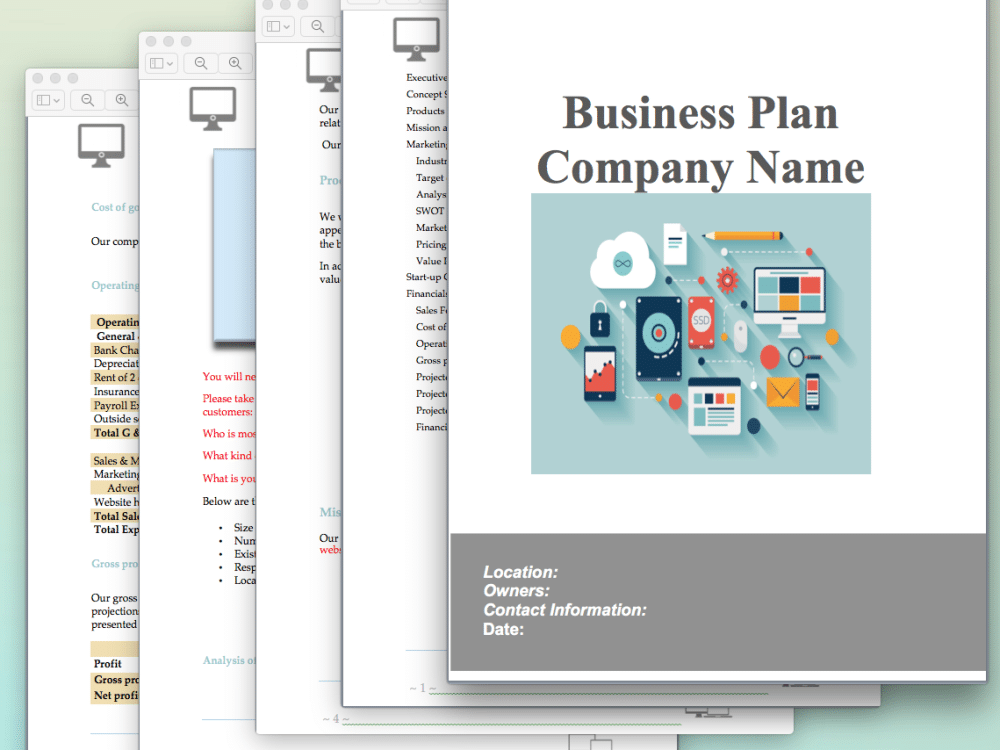 how to write a business plan for a website