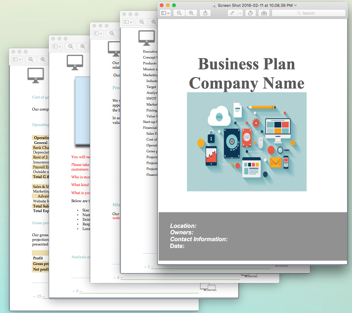 Website design and development business plan sample pages - Business plan for web design company ...