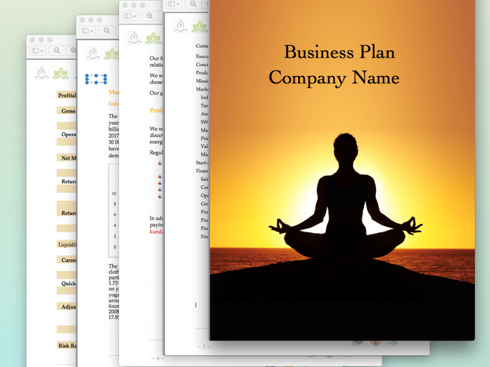 Yoga Studio Business Plan Sample Pages Black Box Business Plans - Pages business plan template