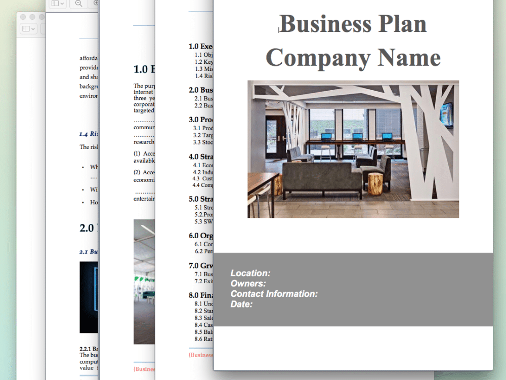 Internet cafe business plan template