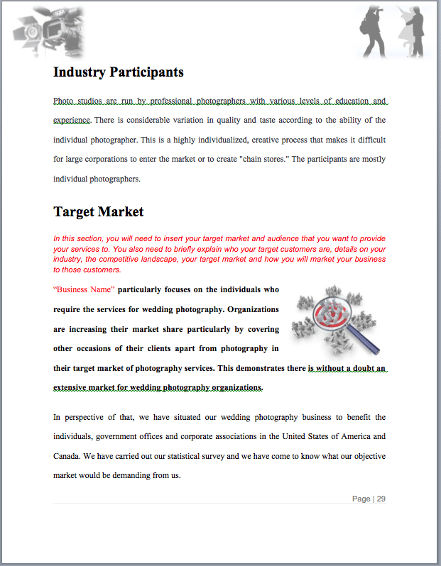 Photography Business Plan Template 10 Free Word Excel Pdf