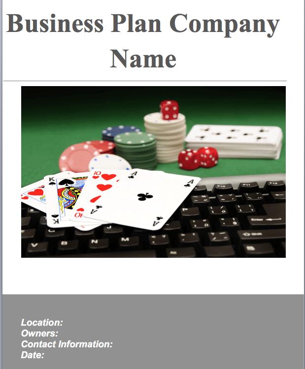 Online Gambling Website Business Plan Template Sample Pages - Website business plan template