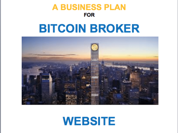 Bitcoin Bit Coin ecurrency virtual currency Broker Website Business Plan Template