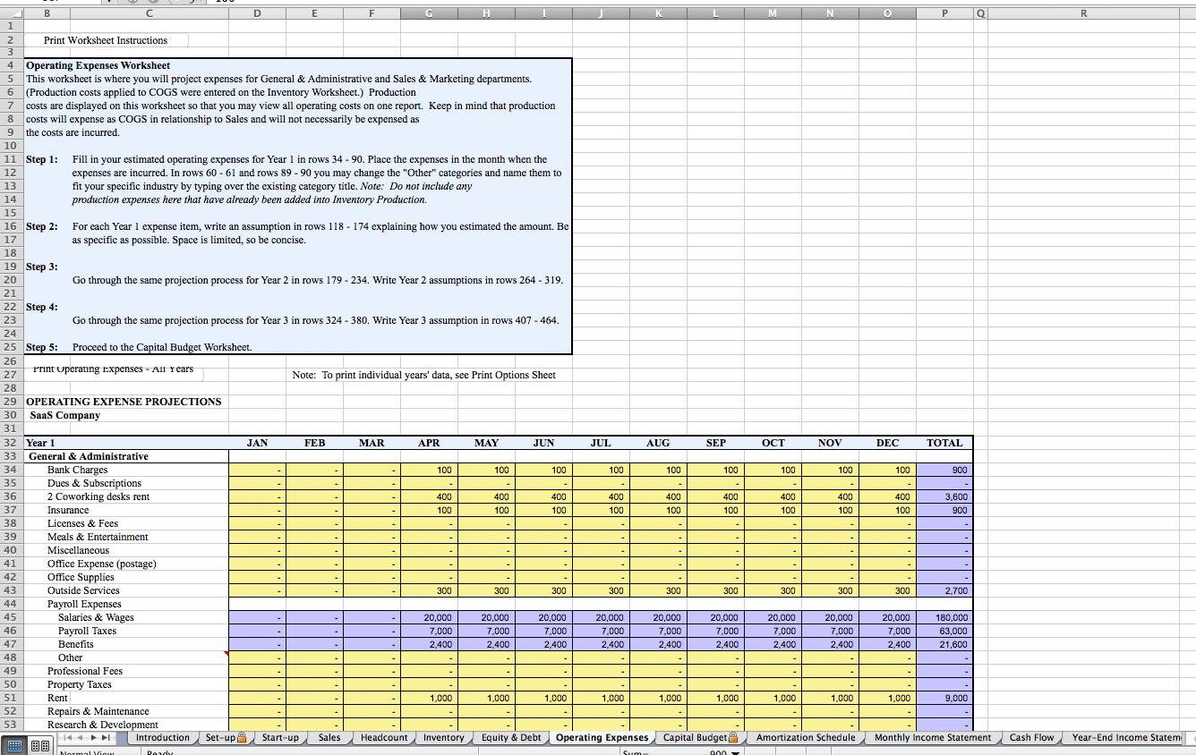 SaaS Excel