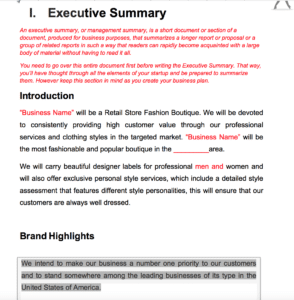 Master Plan Product Example Pages