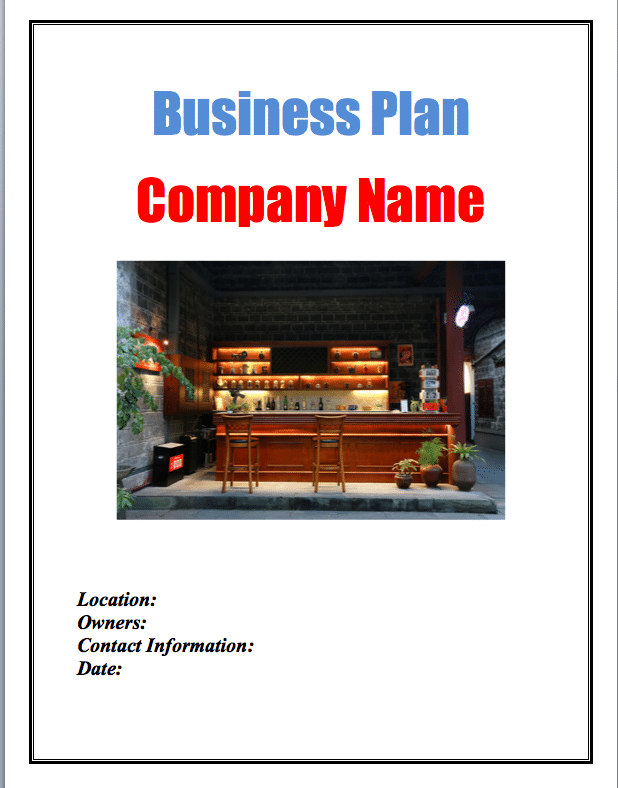 bar business plan On this page and within the resources listed in the box on the right hand side of  this page, you can find information about the strategic approach that we will be.