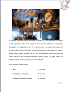 bar business plan template