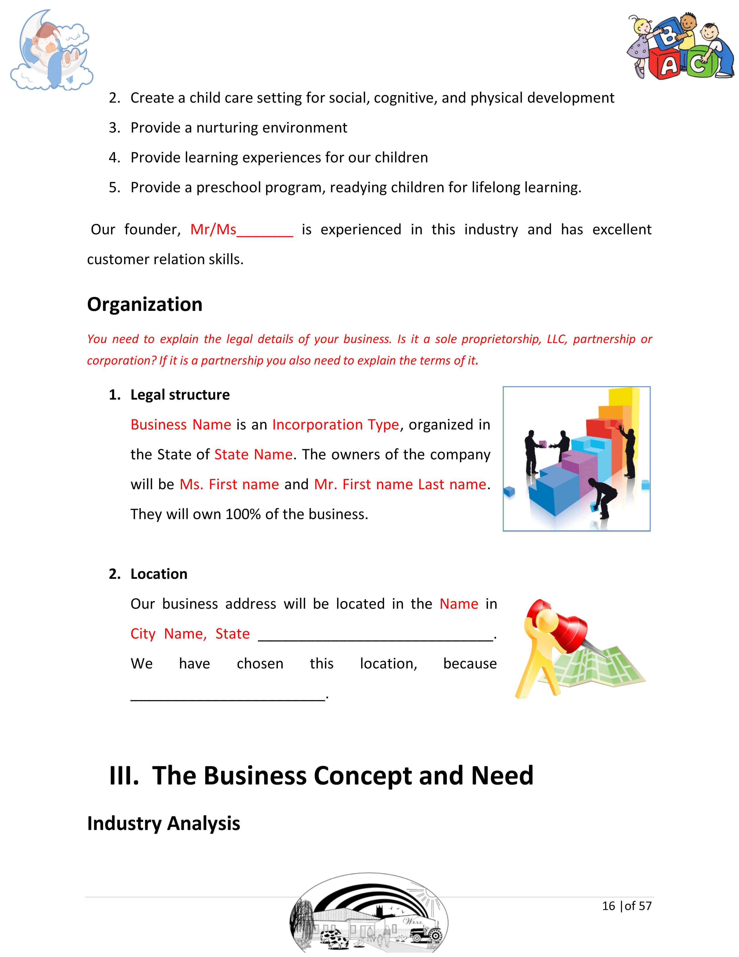 Daycare Business Plan Template Sample Pages - Black Box Business Plans