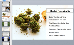 Marijuana pitch deck