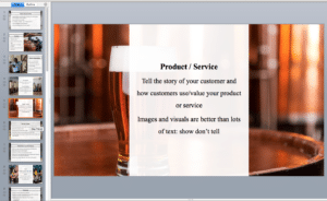 microbrewery Pitch deck