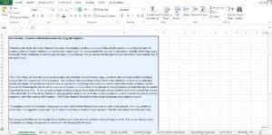 Self Storage Excel Worksheet