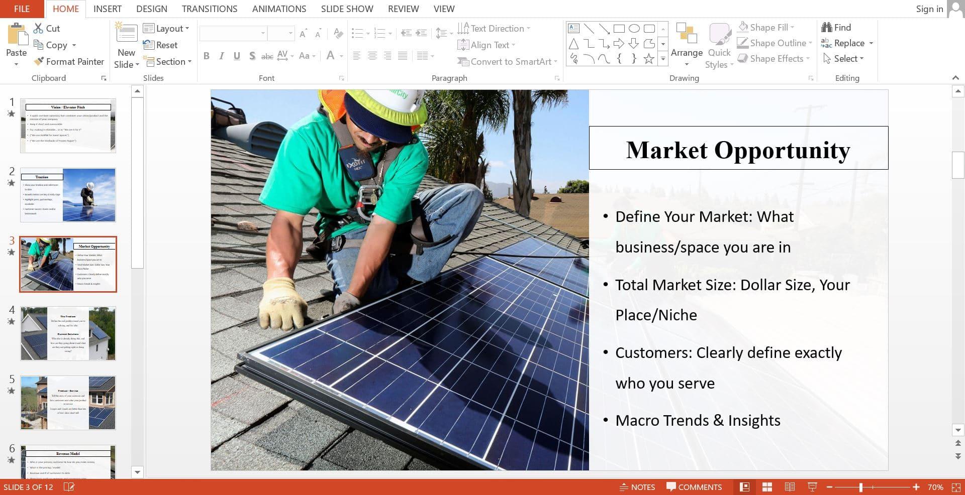 Solar Company Business Plan Template - Black Box Business Plans