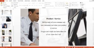 Security Guard Company powerpoint template