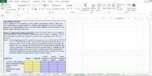 Auto Body Repair Business Excel Worksheet