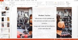 Fitness Gym Powerpoint Pitch Deck