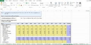 Security Guard Company excel template