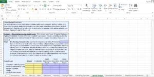 Restaurant Excel Worksheet