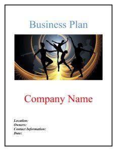 Dance Studio Business Plan Template