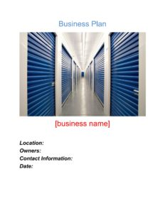 Self Storage Business Plan Template