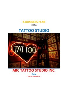 Tattoo Studio Business Plan Template