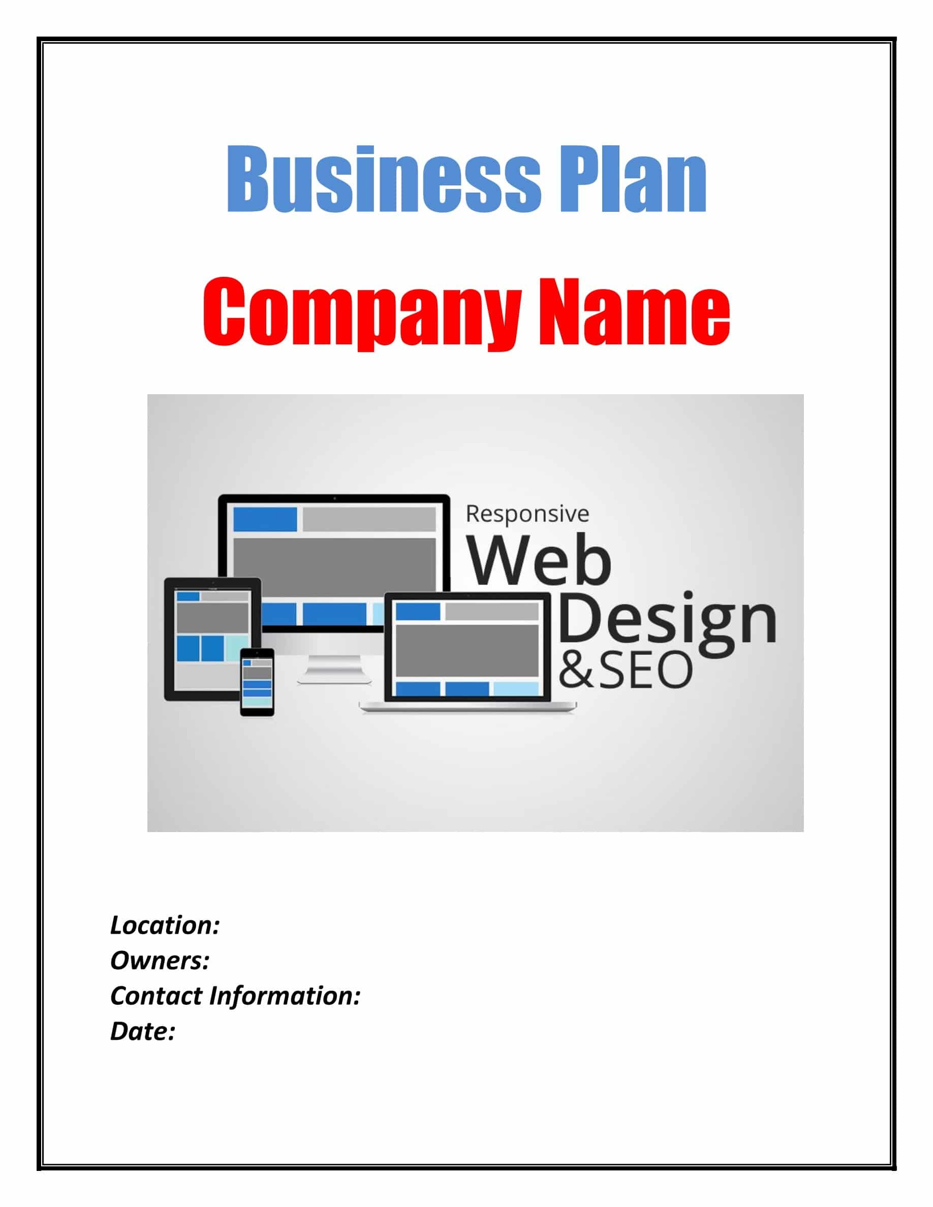 Example business plan web design best university term paper help