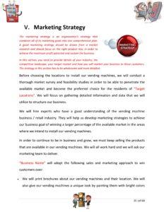 Vending Machine Business Plan Template