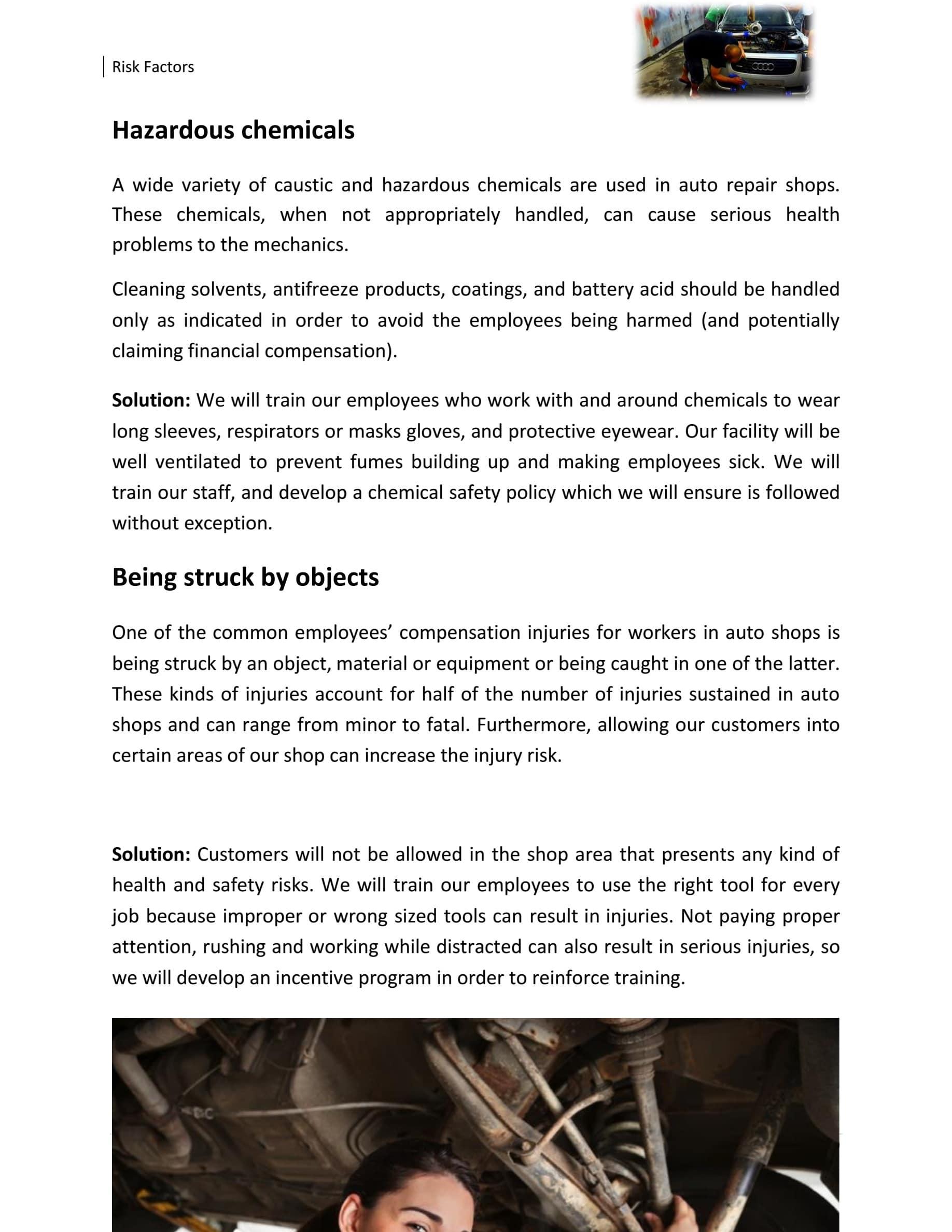 autobody business plan
