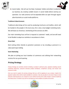 Car Wash Business Plan Template (Physical Location)