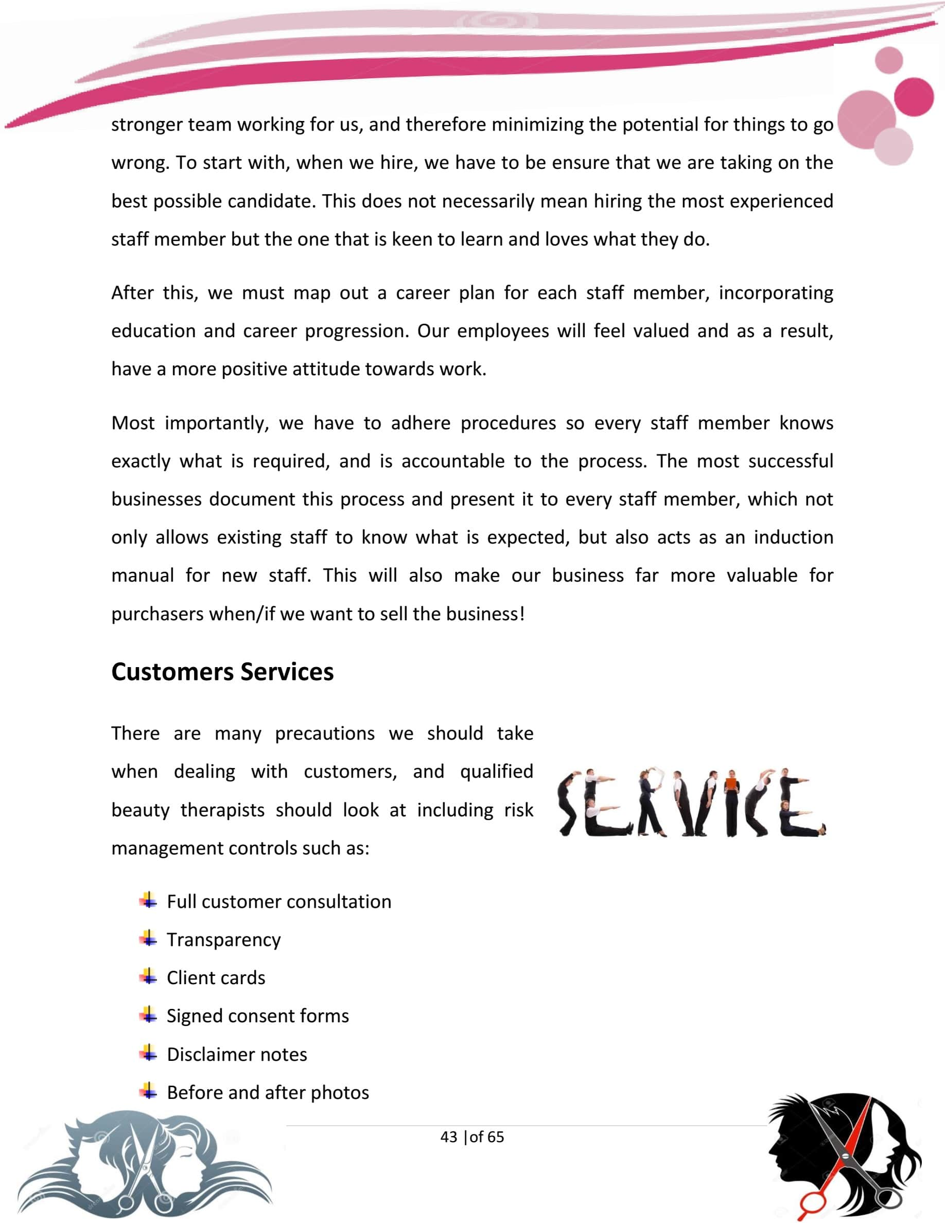 hair salon business plan template pdf