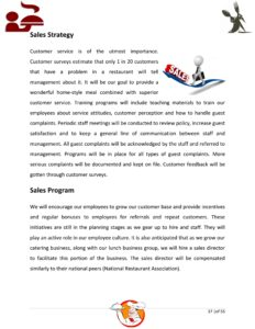 Restaurant Business Plan Template