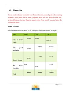 Solar Company Business Plan Template
