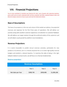 Mobile App Business Plan Template