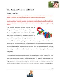 Dog Breeding Business Plan Template