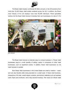 Flower Shop Business Plan Template